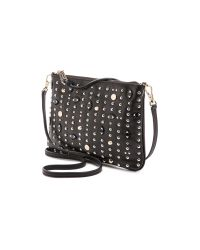 Rebecca Minkoff - Ascher Cross Body Bag With Eyes & Studs - Black - Lyst
