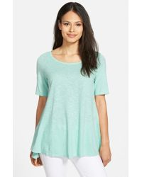 Eileen Fisher | Blue Hemp & Organic Cotton Top | Lyst
