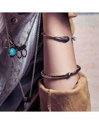 Pamela Love | Metallic Pluma Cuff In Antique Silver | Lyst