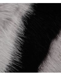 Reiss | Gray Filipa Faux Fur Scarf | Lyst