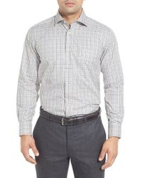 David Donahue | Multicolor Regular Fit Check Twill Sport Shirt for Men | Lyst