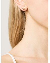 Eddie Borgo - Metallic Gemstone Cube Stud Earrings - Lyst