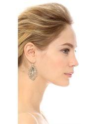 Alexis Bittar - Gray Crystal Framed Earrings - Lyst