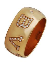 BVLGARI | Metallic Yellow Gold Ring | Lyst