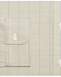 Brooks Brothers - Green Non-iron Slim Fit Houndstooth Overcheck Dress Shirt for Men - Lyst