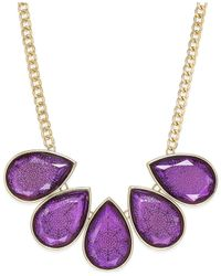 Style & Co. | Purple Amy Filigree Teardrop Necklace, Only At Macy's | Lyst
