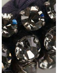 Lanvin - Blue Woven Crystal Embellished Necklace - Lyst