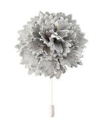 Lanvin - Metallic Floral Brooch - Lyst