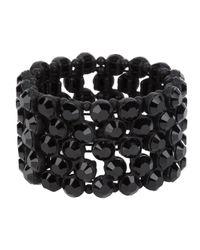 Philippe Audibert - Black Diamante Bracelet - Lyst