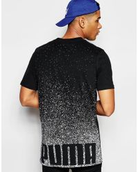 PUMA - Black Longline T-shirt With Back Print for Men - Lyst