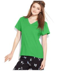 Hue | Green V-neck Top | Lyst