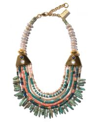 Lizzie Fortunato Blue Long Bay Necklace