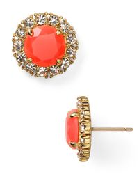 Kate Spade | Orange Secret Garden Stud Earrings | Lyst