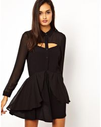 Finders Keepers - Black Memphis Blues Long Sleeve Dress - Lyst