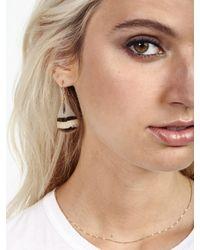 Serefina | Multicolor Mini Chain Feather Earrings | Lyst