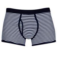 Sunspel - Blue Stripe Low Waist Egyptian Cotton Trunks for Men - Lyst