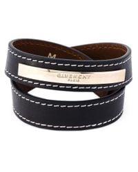 Givenchy - Black Plaque Detail Bracelet - Lyst