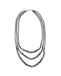 John Lewis | Blue Sparkle Short Layered Necklace | Lyst