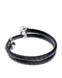 Alexander McQueen | Metallic Leather Studded Wrap Bracelet for Men | Lyst
