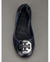 Tory Burch - Blue Leather Ballerinas - Lyst
