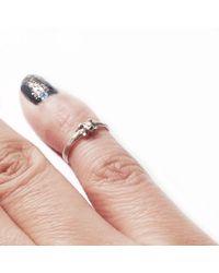 Ayaka Nishi | Metallic Tiny Bone Yellow Bronze Knuckle Ring | Lyst