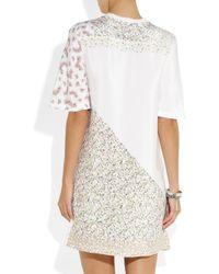 3.1 Phillip Lim - White Printed Silk Crepe De Chine Tshirt Dress - Lyst