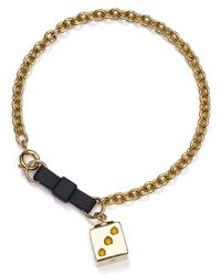 Marc By Marc Jacobs | Metallic Bow Tie Dice Bracelet | Lyst