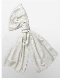 Calvin Klein - White Label Metallic Zebra Pashmina Scarf - Lyst
