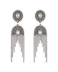 DANNIJO | Metallic Paltrow Crystal Fringe Earrings | Lyst