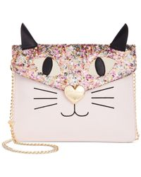 Betsey Johnson | Pink Sequin Cat Clutch | Lyst