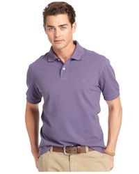 Izod | Purple Big And Tall Short Sleeve Heritage Piqué Polo for Men | Lyst