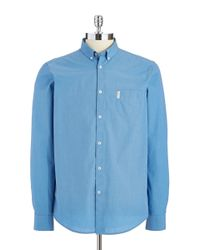 Ben Sherman | Blue Classic End-on-end Sportshirt for Men | Lyst