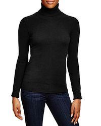 Aqua - Black Cashmere Turtleneck Sweater - Lyst