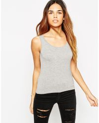 ASOS - Gray Petite Exclusive Forever Vest With Scoop Back - Lyst