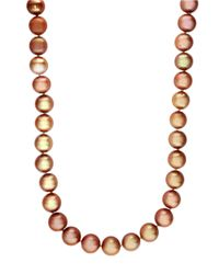 Effy | Sterling Silver And Brown Pearl Necklace | Lyst