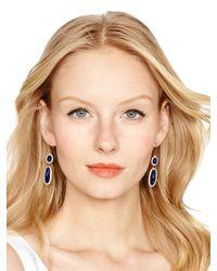 Kate Spade | Blue Park & Lex Double Drop Earrings | Lyst