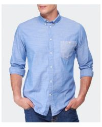 Paul Smith - Blue Stripe Pocket Shirt for Men - Lyst