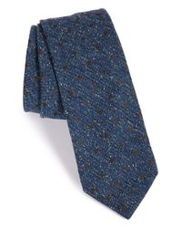 Todd Snyder | Blue Dot Silk Blend Tie for Men | Lyst