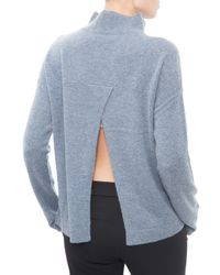 INHABIT | Blue Open Back Sweater | Lyst