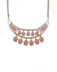 AKIRA - Pink Pendant Collar Necklace Set - Lyst