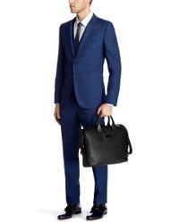 HUGO - Black Business Bag 'Rotterdam' Made Of Leather for Men - Lyst