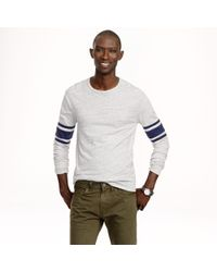 J.Crew - Gray Slim Football Tee in Stripe for Men - Lyst