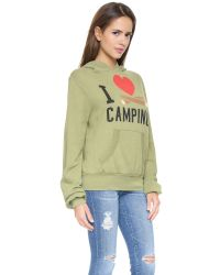 Wildfox - Green I Heart Camping Hoodie - Mossy Rock - Lyst