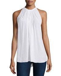 Ramy Brook | White Paris Halter-neck Top | Lyst