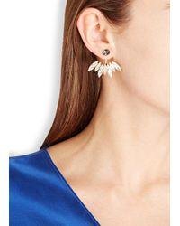 Ca&Lou - Metallic Alexa 24Kt Gold Plated Swarovski Earrings - Lyst