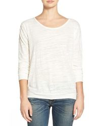 Velvet By Graham & Spencer | White Heather Knit Twist Back Top | Lyst