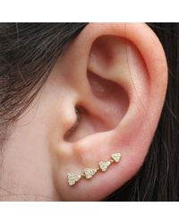 Anne Sisteron - 14kt Yellow Gold Diamond Hearts Ear Cuff - Lyst