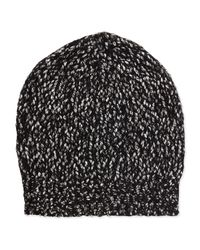 VINCE | Gray Multicolor Knit Beanie Hat | Lyst