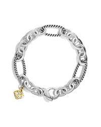 David Yurman - Metallic Oval Figaro Chain Bracelet with Gold - Lyst