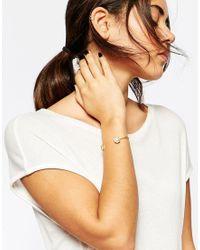 ASOS | Metallic Limited Edition Pearl & Stone Open Cuff Bracelet | Lyst